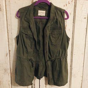 Olive green cargo vest